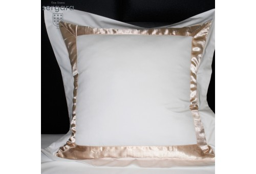Sergara Euro Sham 600 Thread Egyptian Cotton Sateen | Beig Bicolor