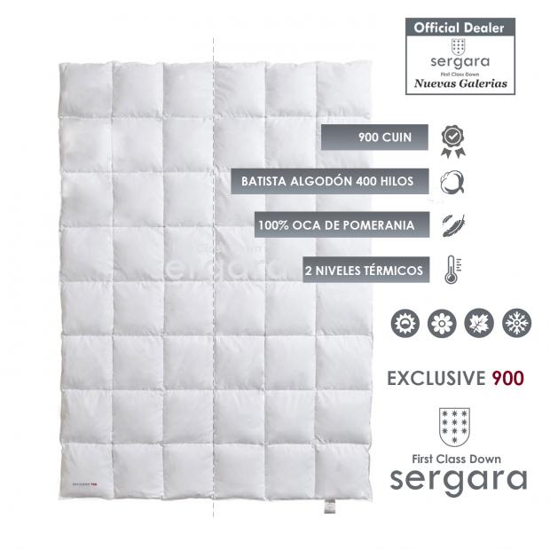 Piumino d´Oca Sergara Exclusive 900   Duplice Calore