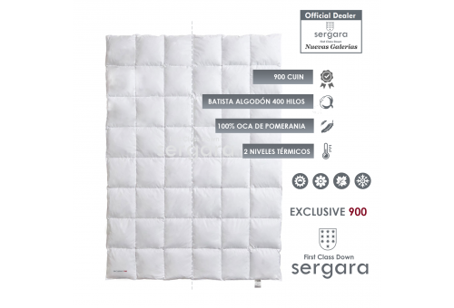Sergara Exclusive 900 Fill Power Dual Warmth Down Comforter