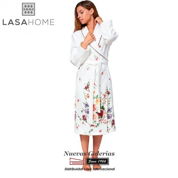 Jacquard velvet bathrobe with shawl collar | Bouquet