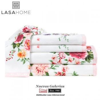 Asciugamani in cotone & velluto jacquard | Bouquet