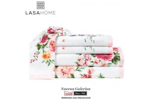Cotton & Jaquard Velvet Bath Towel Set | Bouquet