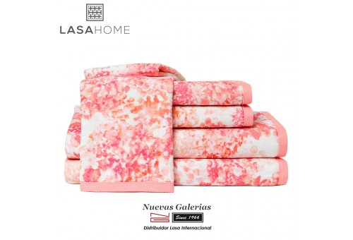 Asciugamani in cotone & velluto jacquard | Georgia