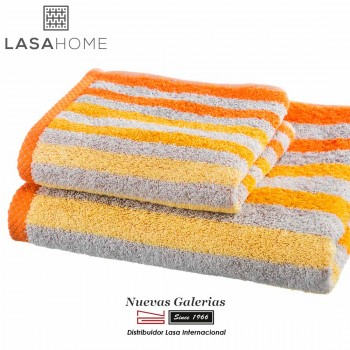 Handtuch Set Baumwolle Orange| Pure Stripes