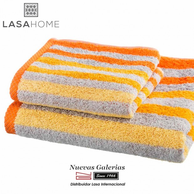 Asciugamani in cotone Arancione | Pure Stripes