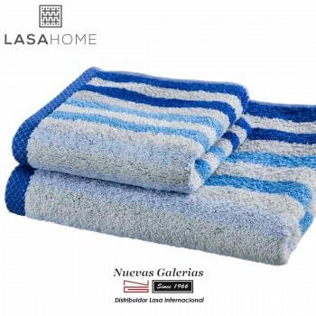 Asciugamani in cotone Blu | Pure Stripes