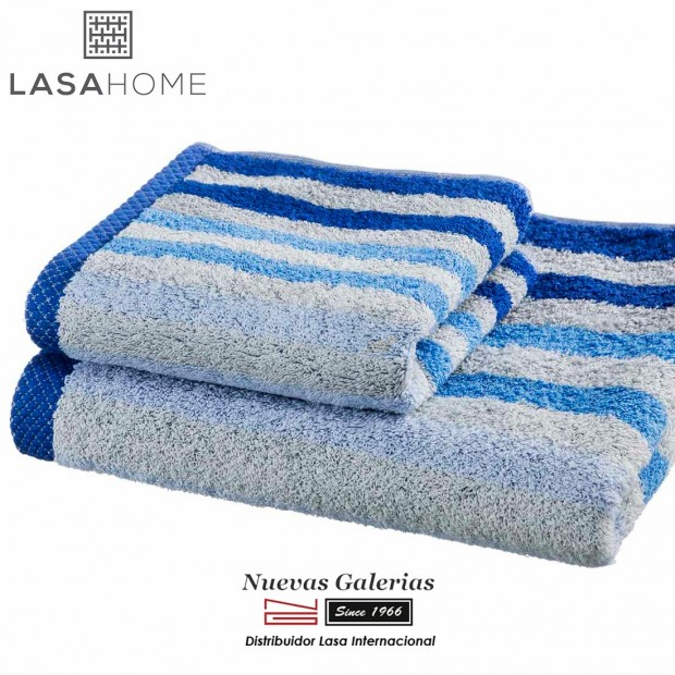 Handtuch Set Baumwolle Blau | Pure Stripes
