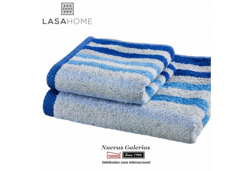 100% Cotton Bath Towel Set Blue | Pure Stripes