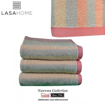100% Cotton Bath Towel Set Pink | Pure Stripes