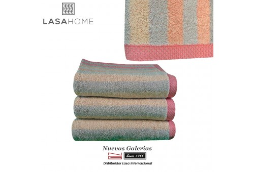 Toalla Rosa Algodón Lasaint | Pure Stripes