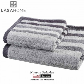 Handtuch Set Baumwolle Grau | Pure Stripes