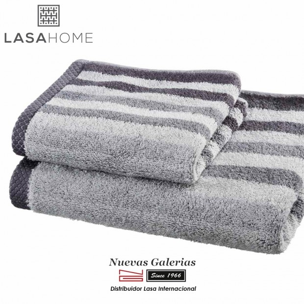 100% Cotton Bath Towel Set Gray | Pure Stripes