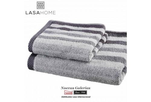 Asciugamani in cotone Grigio | Pure Stripes
