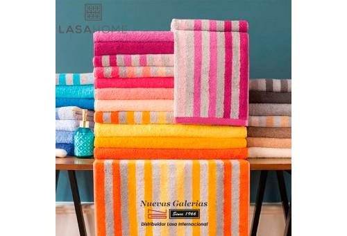 Toalla Gris Algodón Lasaint   Pure Stripes