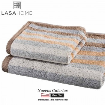 100% Cotton Bath Towel Set Brown | Pure Stripes