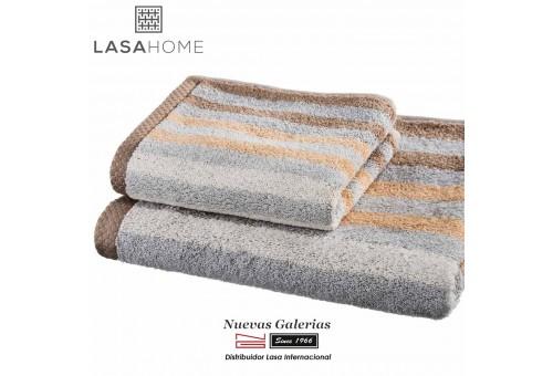 Toalla Marrón Algodón Lasaint | Pure Stripes