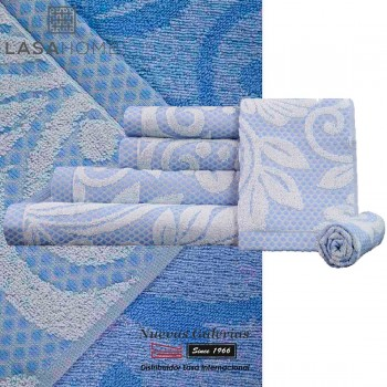 100% Cotton Bath Towel Set Blue | Baltus