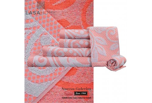 100% Cotton Bath Towel Set Pink | Baltus