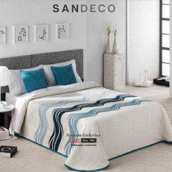 Colcha Piqué Sandeco | Onda Azul