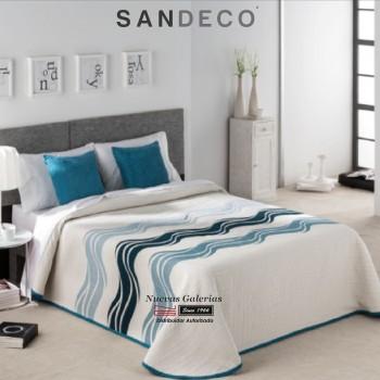 Copriletto Trapuntato Sandeco | Onda Blu