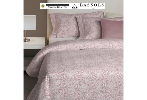 Bassols Funda Nórdica Aster Rosa | Bassols - 1 Funda Nordica Aster Rosa de Bassols 100% Algodón Egipcio Peinado Mercerizado 200