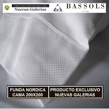 Copripiumino Cama 200x200 Soho Bl | Bassols