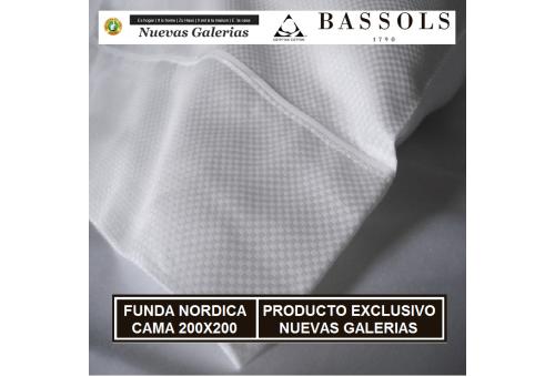 Bassols Copripiumino Cama 200x200 Soho Bl | Bassols - 1 Copripiumino Soho KINGSIZE White Bassols 100% cotone egiziano Satin Merc