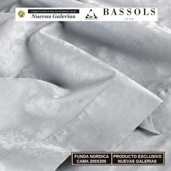 Funda Nórdica Cama 200x200 Jade Gris | Bassols