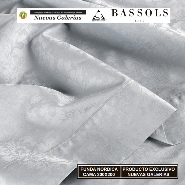 Bassols Duvet Cover Cama 200x200 Jade Gris   Bassols - 1 Duvet cover Jade KINGSIZE Grisde Bassols 100% Algodón Egipcio Jacqua