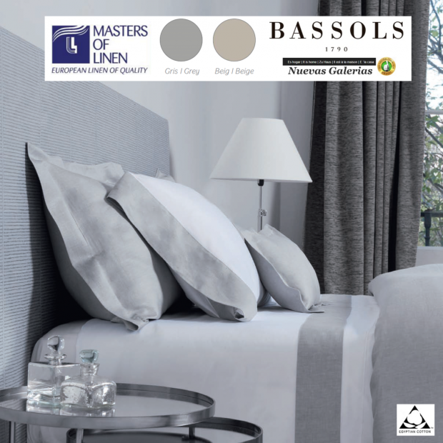 Bassols Sommerbettwäsche Bassetti Bassols   Grace Lino & Algodon - 1 Sommerbettwäsche Grace de Bassols 100% ägyptische Baumwoll
