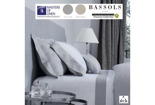 Bassols Completo Lenzuola Bassols | Grace Lino & Algodon - 1 Set di lenzuola Grace di Bassols 100% cotone egiziano Raso merceriz