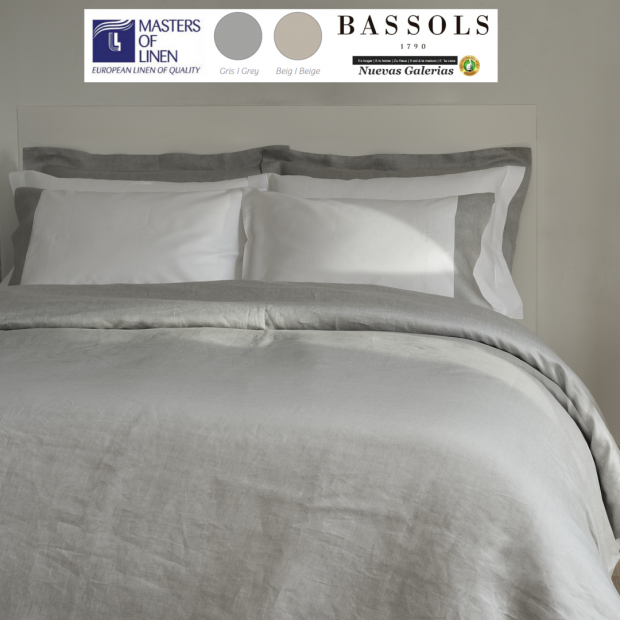 Bassols Funda Nordica Bassols | Grace 100%Lino - 1 Duvet cover Grace de Bassols 100% Linofibra larga Masters of Linen. 3 piez