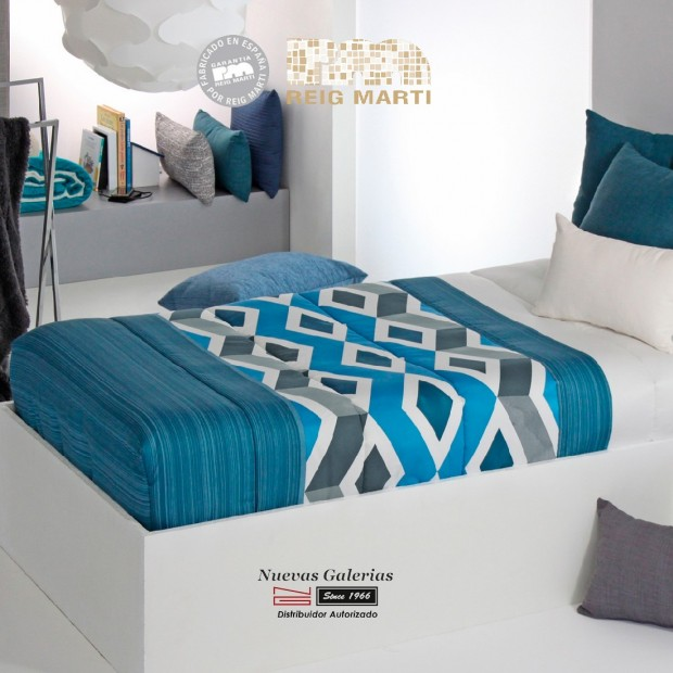 Reig Marti Fitted comforter | Morgan AG-03 Blue