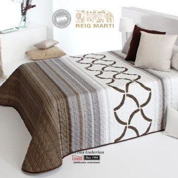 Reig Marti Bouti Bedspred | Morgan 2P-05 Brown