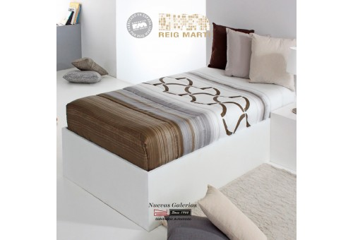 Reig Marti Fitted comforter | Twist AG-05 Brown