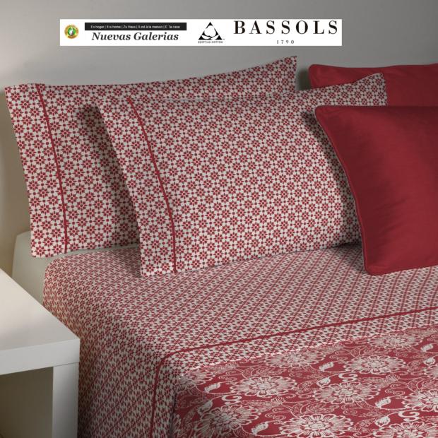 Bassols Sheet Set Bassols | Lily Granate - 1 Sheet SetLily Granatede Bassols 100% Algodón Egipcio Mercerizado 200 hilos.3