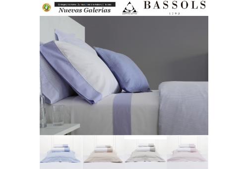 Bassols Completo Lenzuola Cannes | Bassols - 1 Set lenzuola Cannes di Bassols 100% cotone egiziano 200 fili mercerizzati. 3 pezz