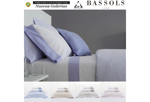 Bassols Sommerbettwäsche Bassetti Cannes | Bassols - 1 Sommerbettwäsche Cannes von Bassols 100% ägyptische Baumwolle 200 Fäden