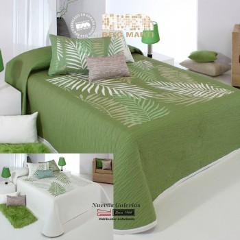Colcha Jacquard Reversible Reig Martí | Libor 04 Verde