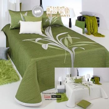Colcha Jacquard Reversible Reig Martí | Lynette 04 Verde