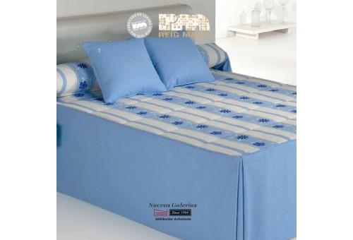 Reig Marti Bedspread Quilt | Bakar 1-03 Blue