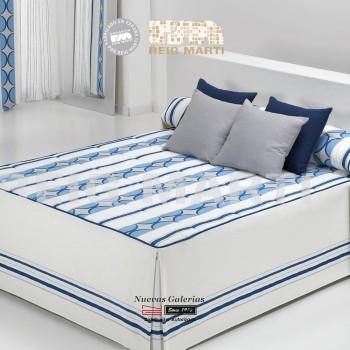 Reig Marti Bedspread Quilt | Citta 1-03 Blue
