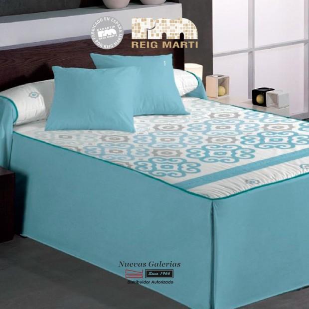 Reig Marti Bedspread Quilt   Pescara 1-03 Blue