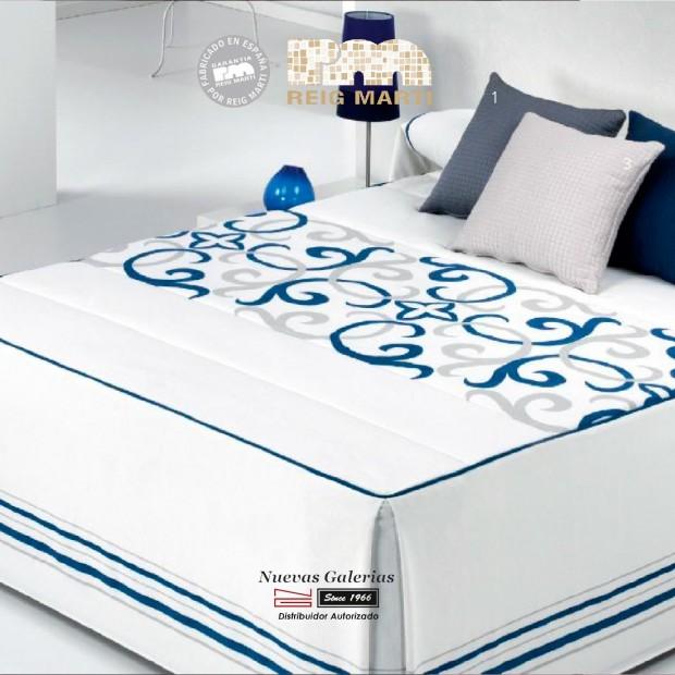 Reig Marti Bedspread Quilt   Vanity 1-03 Blue