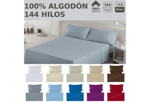 Juego de sábanas LISOS BIÉS 100% algodón (144 hilos). Es-Tela