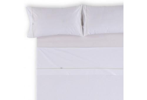 Juego de sábanas LISOS BIÉS 100% algodón (144 hilos). Es-Tela 001-BLANCO
