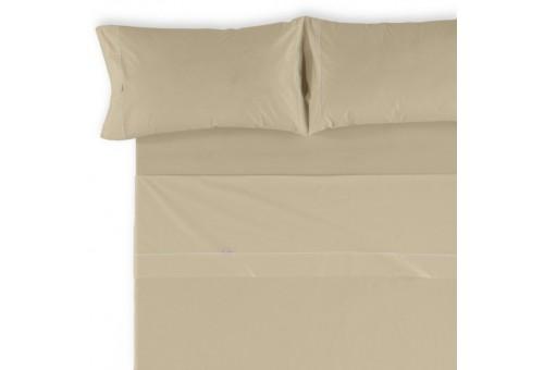 Juego de sábanas LISOS BIÉS 100% algodón (144 hilos). Es-Tela 224-CAMEL