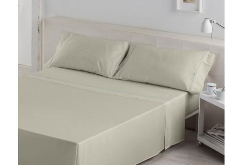 Juego de sábanas LISOS BIÉS 100% algodón (144 hilos). Es-Tela 138-PIEDRA
