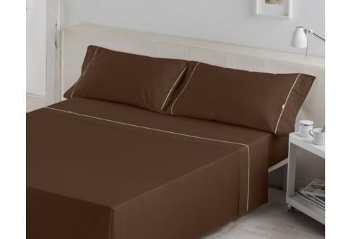 Juego de sábanas LISOS BIÉS 100% algodón (144 hilos). Es-Tela 025-CAFE