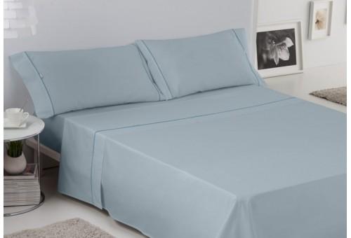 Juego de sábanas LISOS BIÉS 100% algodón (144 hilos). Es-Tela 256-PLATA